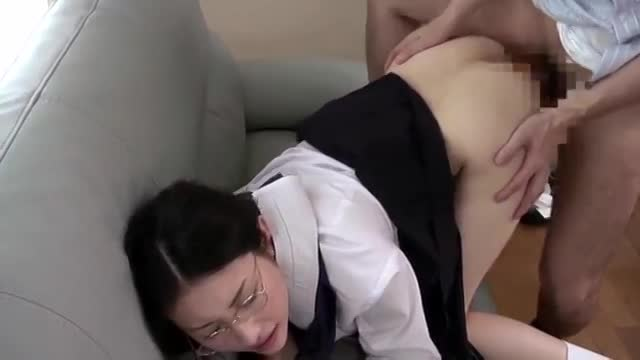 The Young student entice her master