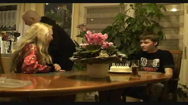 Dad Let's Mom Suck and Fuck Son For His Birthday