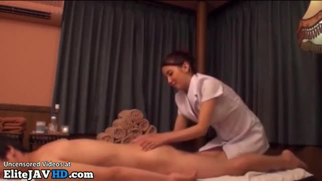 japanese masseuse in uniform satisfies her client