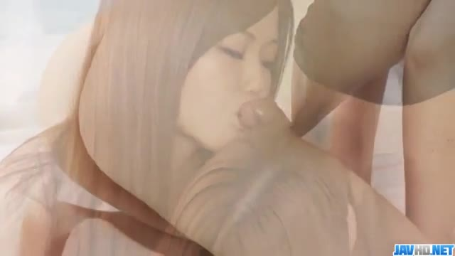 Gorgeous Nao shares a big dick with her friend