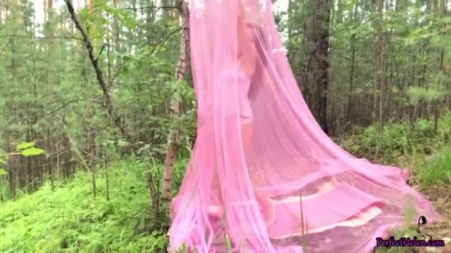 Brunette Suck Cock and Doggy Sex Outside in the Forest