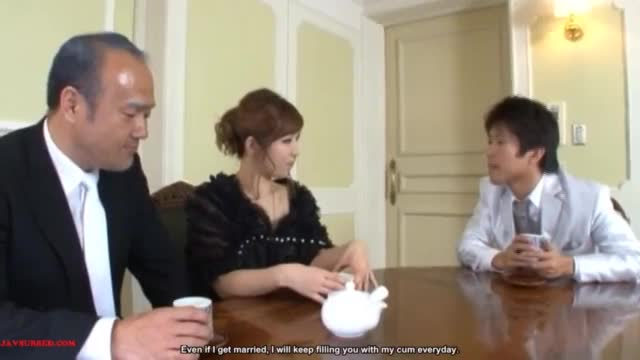 Japanese girl let her parents see her making love to her boyfriend